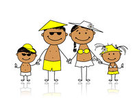 Summer holidays. Happy family for your design Royalty Free Stock Images
