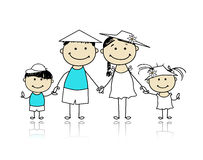 Summer holidays. Happy family for your design Stock Photo