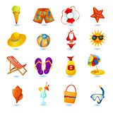 Summer Holidays Icon Set Royalty Free Stock Image