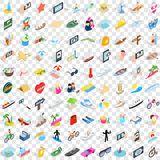 100 summer holidays icons set, isometric 3d style. 100 summer holidays icons set in isometric 3d style for any design vector illustration Vector Illustration