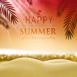 Summer holidays. Illustration of a Summer Background Royalty Free Stock Images