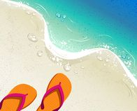 Summer holidays illustration Royalty Free Stock Photo