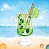 Summer holidays  illustration Stock Images