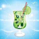 Summer holidays  illustration Stock Photos