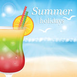 Summer holidays  illustration Stock Photo