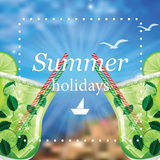 Summer holidays  illustration Royalty Free Stock Photos