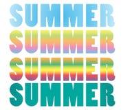 Summer holidays illustration. 2d design of summer holidays illustration Stock Images