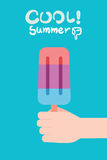 Summer holidays  illustration,flat design sticbar icecream concept Stock Photo