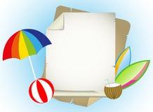 Summer holidays illustration. Framework for greeting or invitation. 2d design of framework for greeting or invitation Stock Image