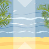 Summer holidays illustration framework Stock Photo