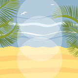 Summer holidays illustration framework Royalty Free Stock Image