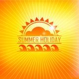 Summer holidays illustration with logo Royalty Free Stock Photography