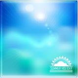 Summer holidays illustration with logo Stock Photography