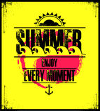 Summer holidays illustration with text Stock Photos
