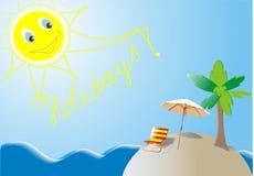 Summer Holidays island vector illustration