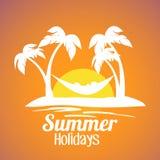 Summer holidays Island background. Royalty Free Stock Image