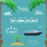 Summer holidays kit Stock Photos