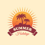 Summer Holidays Label Stock Image