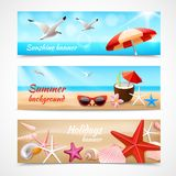 Summer holidays labels stock illustration