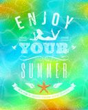 Summer holidays lettering emblem Royalty Free Stock Photography