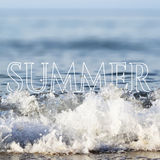 Summer Holidays lettering and hand drawn elements Royalty Free Stock Image