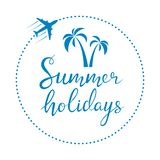 Summer holidays lettering Royalty Free Stock Image