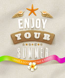 Summer holidays illustration Stock Image