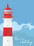 Summer Holidays lighthouse poster Royalty Free Stock Photos