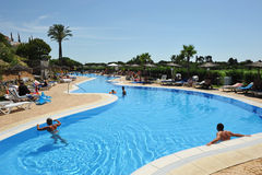 Summer holidays, magnificent swimming pool , Andalusia, Spain Stock Images