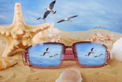 Summer holidays memories Royalty Free Stock Images
