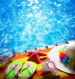 Summer holidays in pool Stock Photography