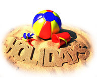 Summer holidays poster Stock Photography