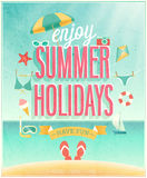 Summer Holidays poster. Royalty Free Stock Images