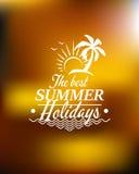 Summer Holidays poster design Stock Image