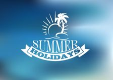 Summer Holidays poster design Royalty Free Stock Photos