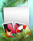 Summer holidays poster Stock Image