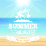 Summer holidays poster Royalty Free Stock Image