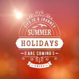 Summer holidays poster Stock Photos