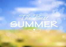 Summer Holidays Poster Vector Illustration Royalty Free Stock Photos