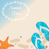 Summer Holidays Poster Vector Illustration Royalty Free Stock Image