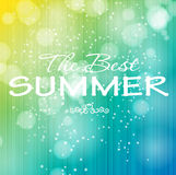 Summer holidays poster vector illustration Stock Photos