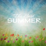 Summer holidays poster vector illustration Royalty Free Stock Photo
