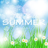Summer holidays poster vector illustration Stock Photo
