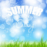 Summer holidays poster vector illustration Stock Images