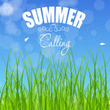 Summer holidays poster vector illustration Royalty Free Stock Images