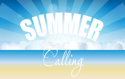 Summer holidays poster vector illustration Stock Photography