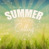 Summer holidays poster vector illustration. This is file of EPS10 format Stock Photos