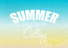 Summer holidays poster vector illustration. This is file of EPS10 format Stock Images