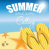 Summer holidays poster vector illustration Stock Image