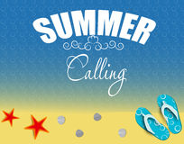 Summer holidays poster vector illustration Royalty Free Stock Photography